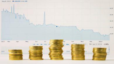 انخفاض الذهب